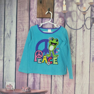 Other - frog peace pj top girls size 6 AH9